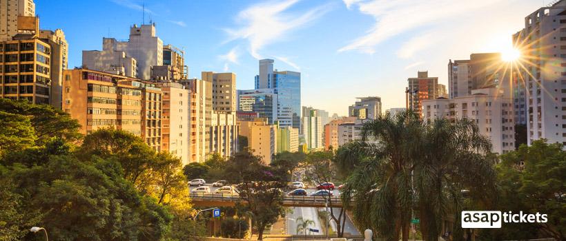 Flight to beautiful Sao Paulo