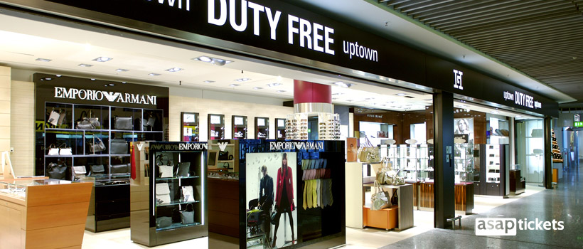 Duty-Free zone in an airport - ASAPtickets Travel Guide