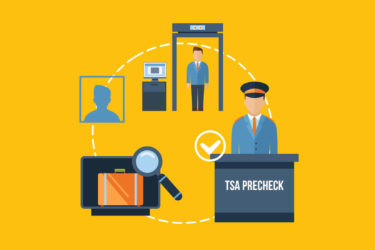 Flat design, TSA Preckeck, Airport, security check - ASAPtickets travel guide