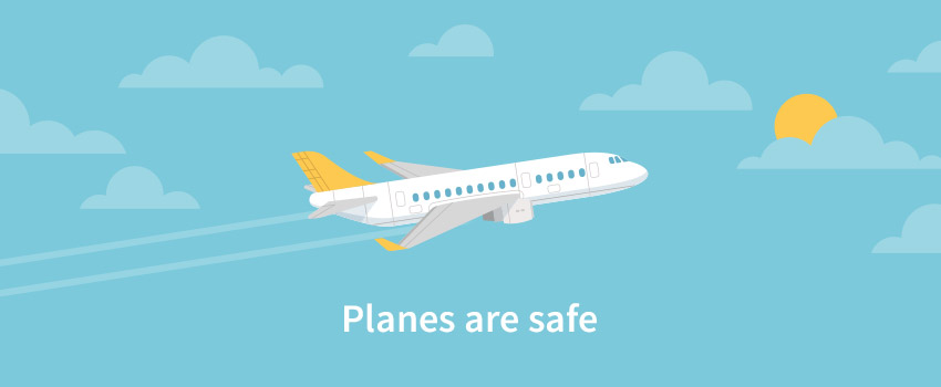 Airplane flying in the sky created in flat design - ASAPtickets travel guide