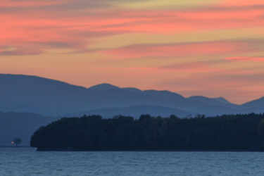 Lake Placid, The Adirondack Mountain in sunset