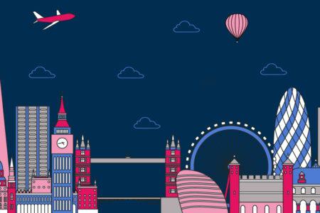 London landscape in flatdesign - ASAP Tickets travel blog