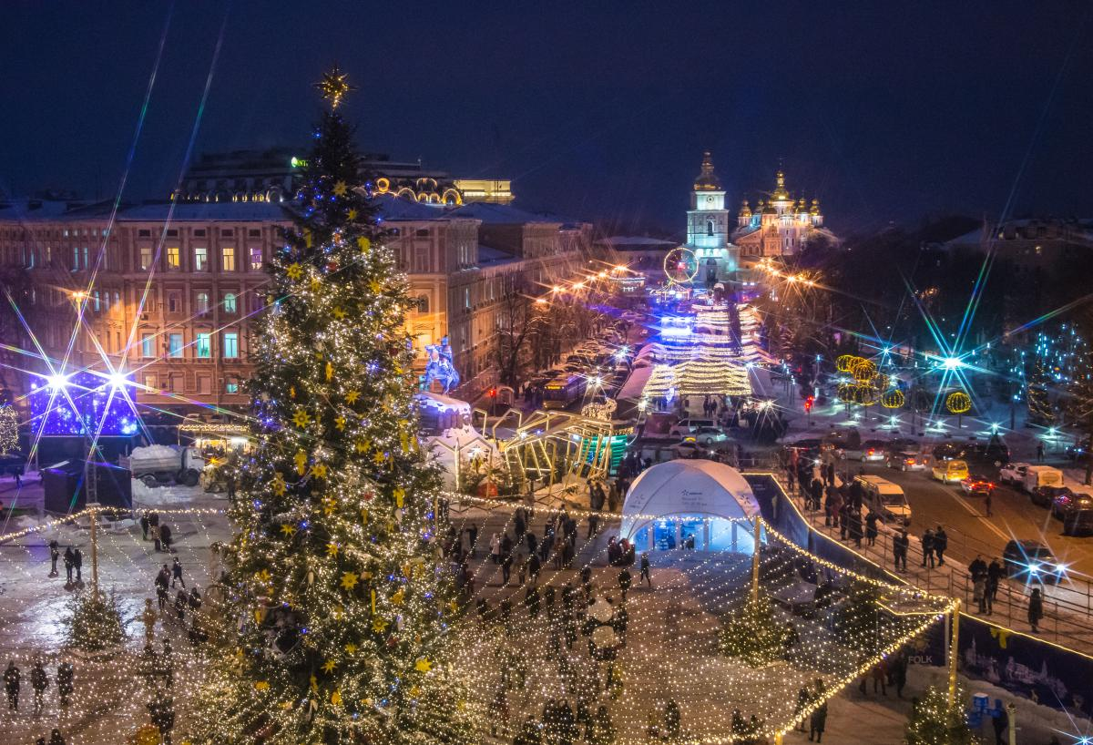 Sophia Square, Christmas Markets in Europe, Kiev, Ukraine