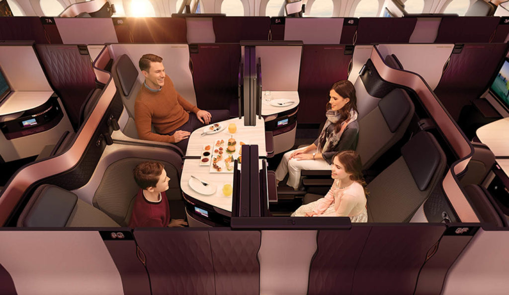 Qatar Airways Qsuites Business Class - Quad Suite
