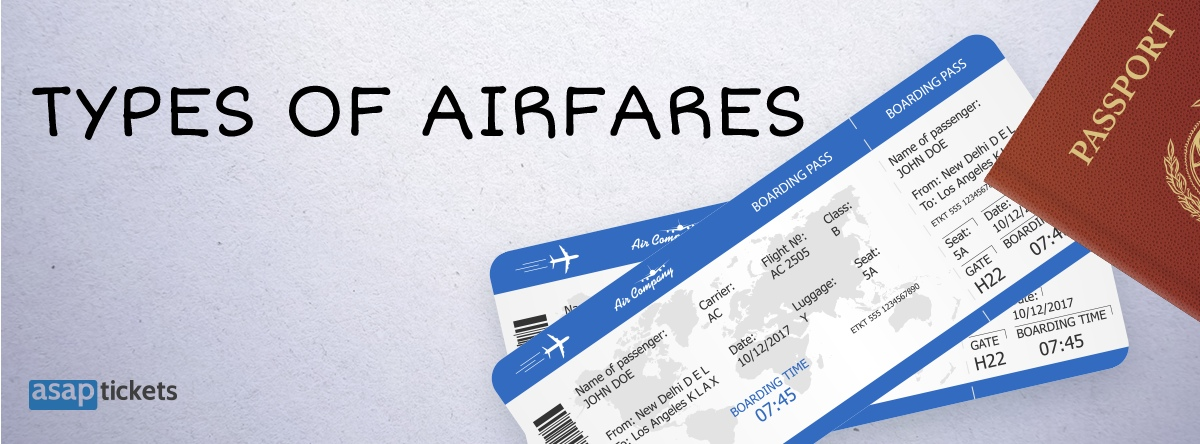 Types of Airfares - Published Airfares
