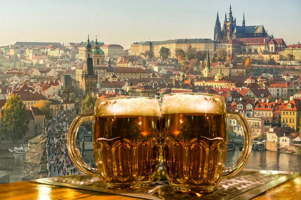 Two chugs of Czech beer