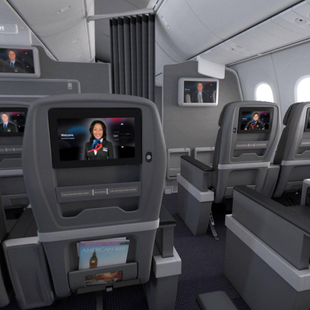 AA premium economy class seat